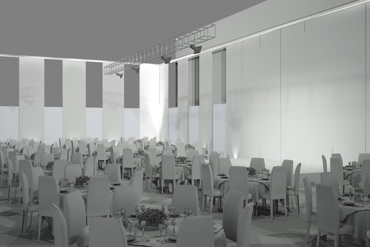 Esempio allestimento sala